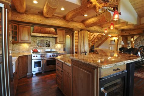 Amish Kitchen Islands Bear Creek Cabin Rustic Kitchen Denver By Mountain