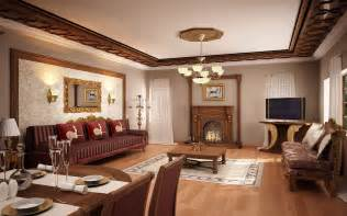 Simple false ceiling designs for living room with brown furniture sets