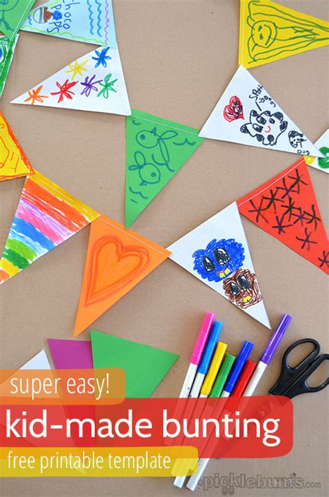 Make Paper Bunting - kid made bunting picklebums