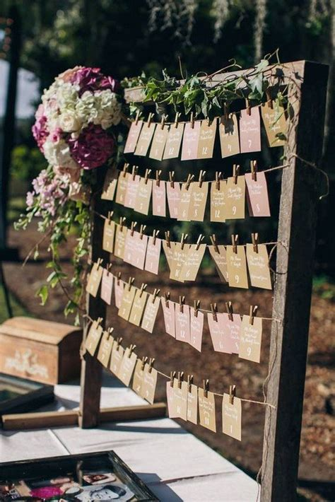 trending wedding seating chart decoration ideas