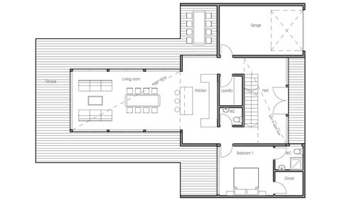 contemporary floor plan contemporary home plan ch165 floor plans and 3d images
