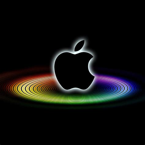 Lambang Apple Iphone Logo Apel by Apple Rainbow Ring Wallpaper Ipadflava