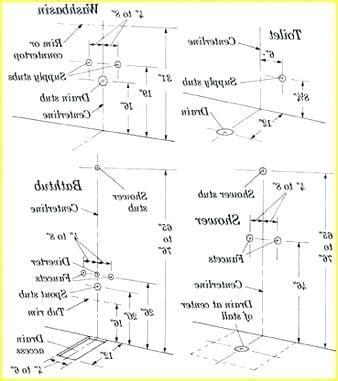 Bathroom Plumbing Dimensions   Plumbing Contractor
