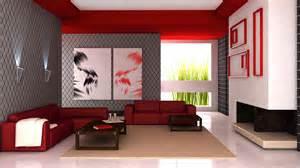 salon nowoczesny design w 3d czerwony tapeta na