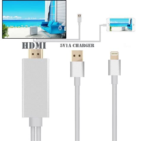 Lightning Cable Iphone 5 5s 6 lightning to hdmi cable iphone 5 5s 6 6s plus silicon pk