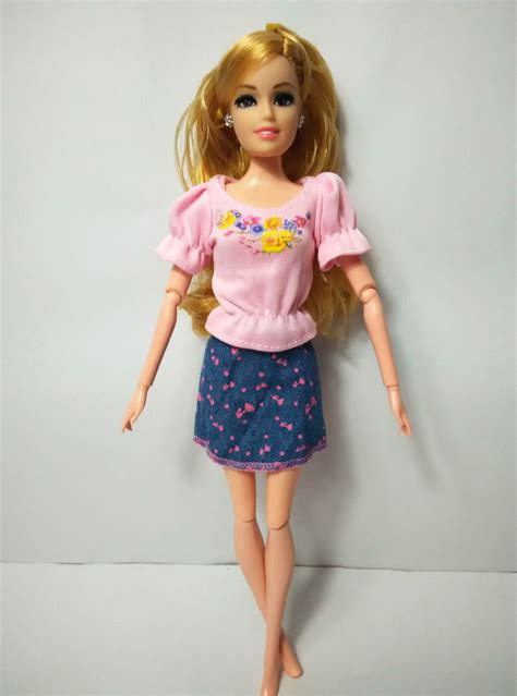 design clothes for your doll one set doll skirt cute pattern design dresses girl