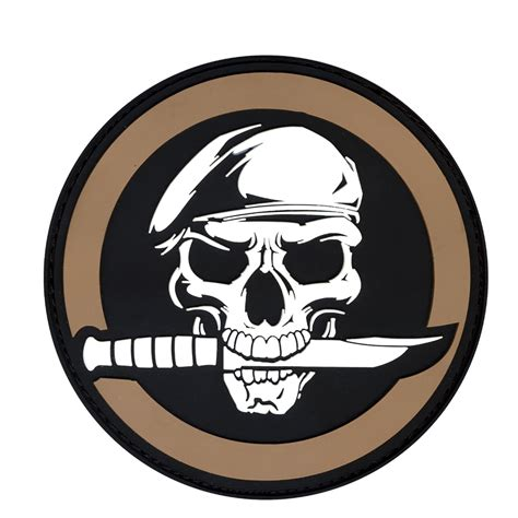Patch Rubber Patch Rescue Airsoft rebel skull knife pvc morale velcro rubber hook