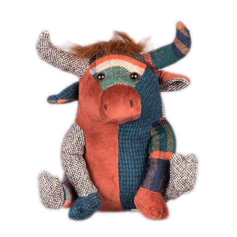 Patchwork Cow - patchwork highland cow doorstop view or buy now hes