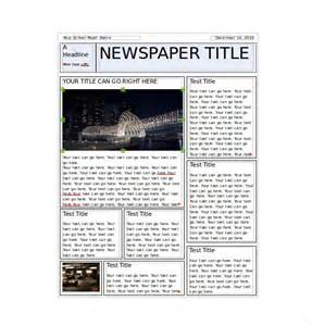 Free Word Newspaper Template by 8 Classroom Newspaper Templates Free Sle Exle