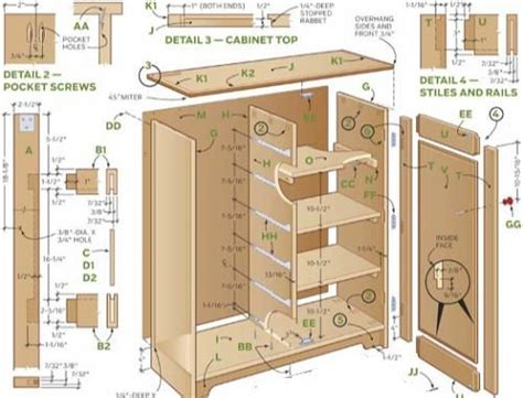 how to build cabinet construction plans and parts list to build cabinets run of