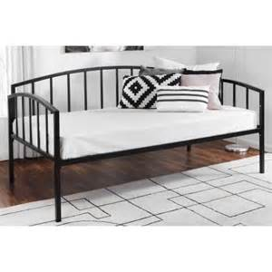 Black Metal Daybed Mainstays Metal Daybed Black Walmart