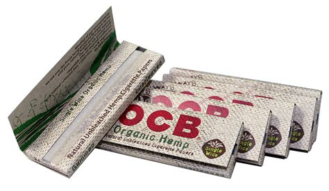 How To Make Organic Paper - ocb organic hemp rolling papers single wide