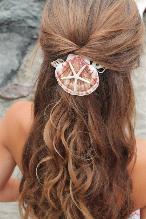 Mermaid Hairstyles by Mermaid Hair Comb Starfish And Seashell Accessory