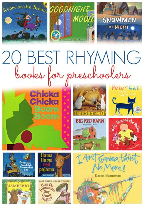 rhyming picture books best rhyming books for preschoolers pre k pages