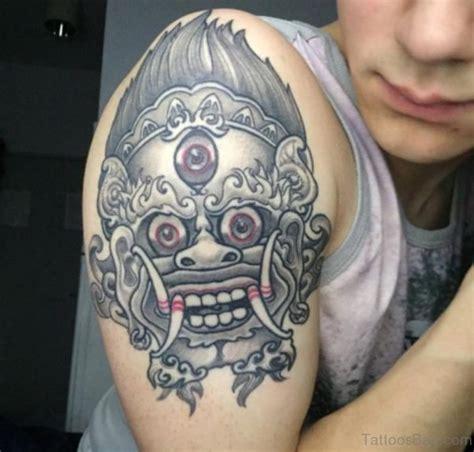 barong mask tattoo design 60 gorgeous mask tattoos for shoulder