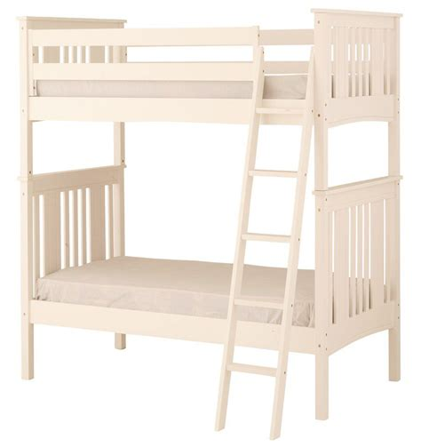 Bunk Bed Guard Rail Canwood Base C Bunk Bed With Angled Ladder Guard Rail White Home