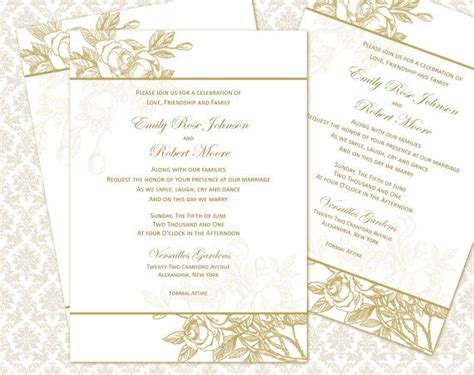 5x6 5 card template wedding printable invitation 4 5x6 5 set diy