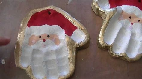 santahandornamentfloursalt salt dough santa