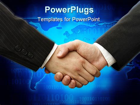 motion powerpoint templates powerpoint template handshake between two business