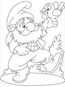 gnome coloring pages gnome printable coloring pages