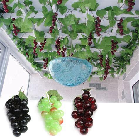 bunch lifelike artificial grapes plastic decorative