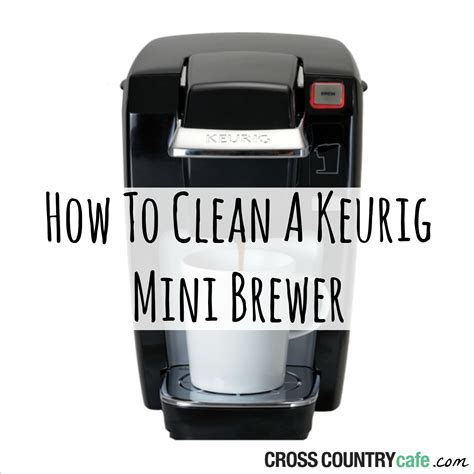 how to clean a keurig mini brewer