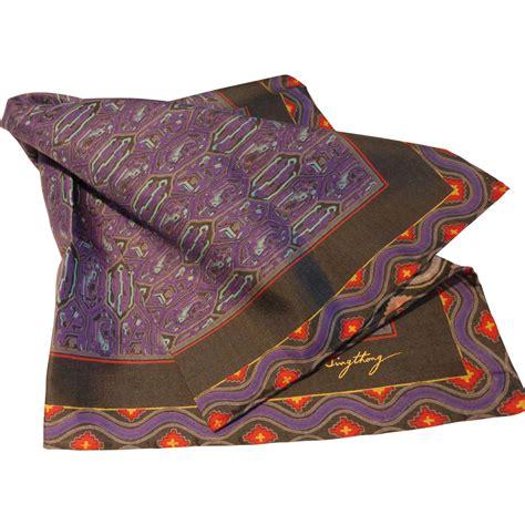 vintage thai silk scarf by vanzon singthong from