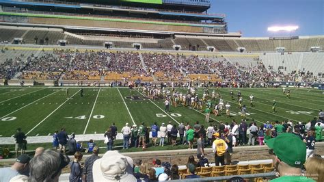 notre dame stadium visitor section notre dame stadium section 10 rateyourseats com