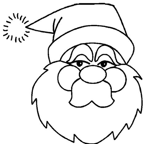 free coloring pages of santa s face 60 best santa templates shapes crafts colouring pages