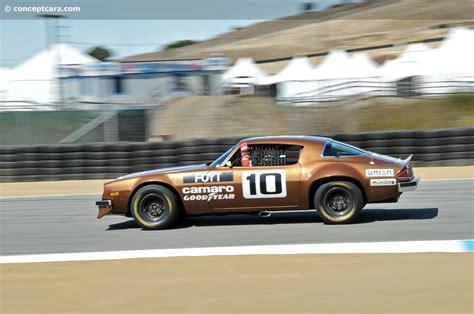 camaro racing 1974 chevrolet camaro iroc race car at the rolex monterey