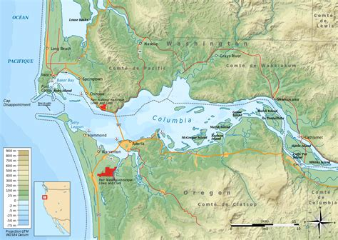 columbia river map columbia river estuary