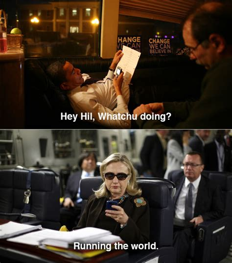 Hillary Clinton Texting Meme - hillary clinton beer dance photos just add to her new