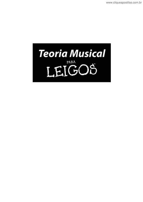 Clique Apostilas - Teoria Musical para Leigos