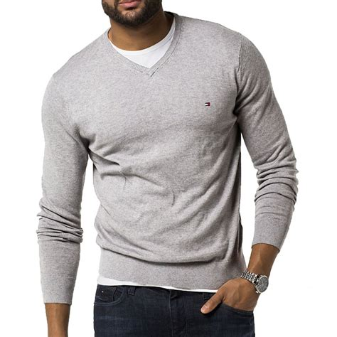 Jumper Winner Grey light grey v neck jumper mens gray cardigan sweater