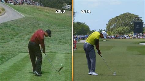 tiger woods golf swing 2000 tiger s impact position 2000 vs 2014 golf channel