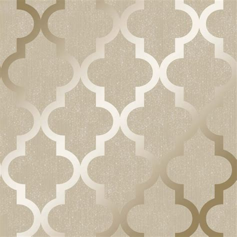 camden trellis wallpaper cream gold wallpaper
