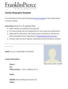 professional biography template 45 biography templates exles personal professional