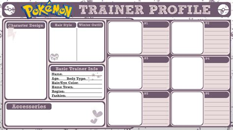 profile card template trainer profile by poisonoussugar on deviantart