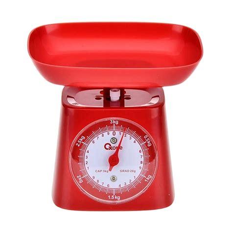 Timbangan Dapur jual oxone ox 211 timbangan dapur merah 3 kg harga kualitas terjamin blibli