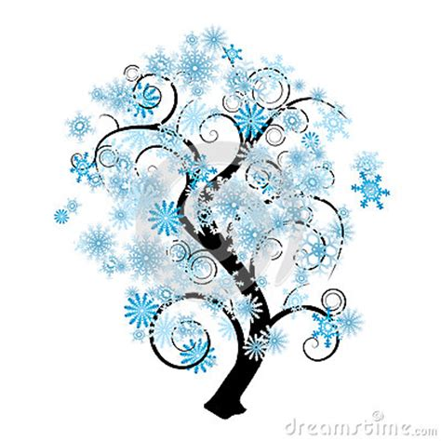 snow flake tree snowflake tree stock photography image 27034022