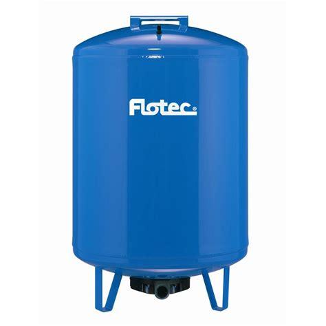 flotec 35 gal pre charged pressure tank with 82 gal