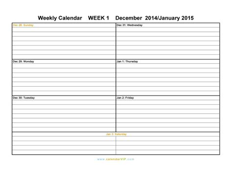 blank week calendar template printable weekly calendars print blank calendars