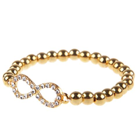 infinity beaded bracelet rhinestone cross infinity stretch beaded