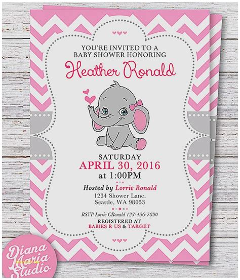 Elephant Baby Shower Invitations Free Template Baby Shower Invitation Inspirational Free Downloadable Baby Shower Invitation Templat