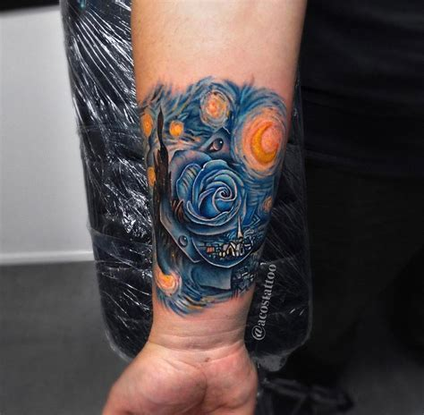 starry night tattoo starry with best design ideas