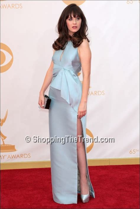 Emmys Fashion Goes White And Blue by Zooey Deschanel Tina Fey More In Blue Emmy Awards 2013