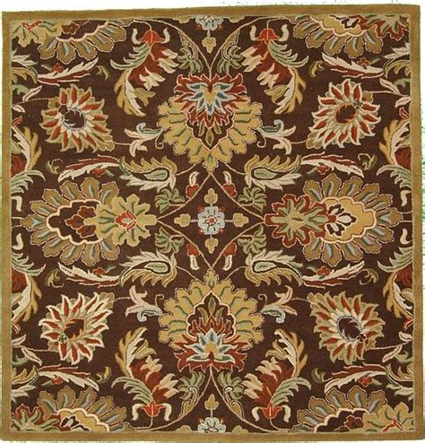 Brown Floral Area Rugs by 6 7 X 6 7 Brown Floral Agra Area Rugs Home