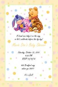 custom photo baby shower invitation winnie the pooh