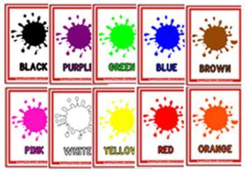 colours flashcards aussie childcare network