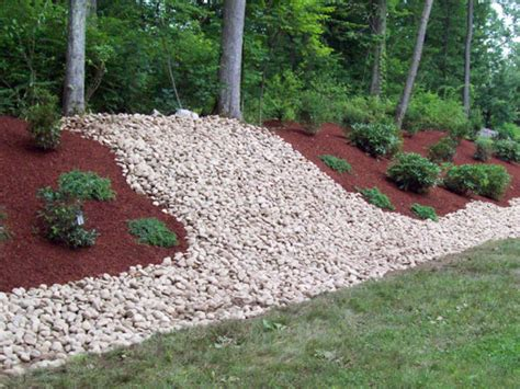 garden bed rocks landscaping ideas with mulch and new